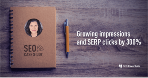 SEO Case Study: Grow impressions and SERP clicks by 300%